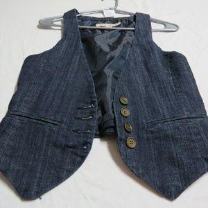Sz S Blue Jean Denim F21 Juniors Cotton #50C Vest
